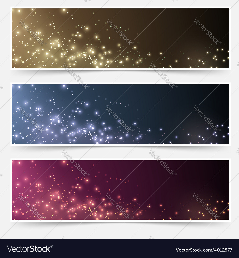 Magic christmas header footer flyer collection vector | Price: 1 Credit (USD $1)