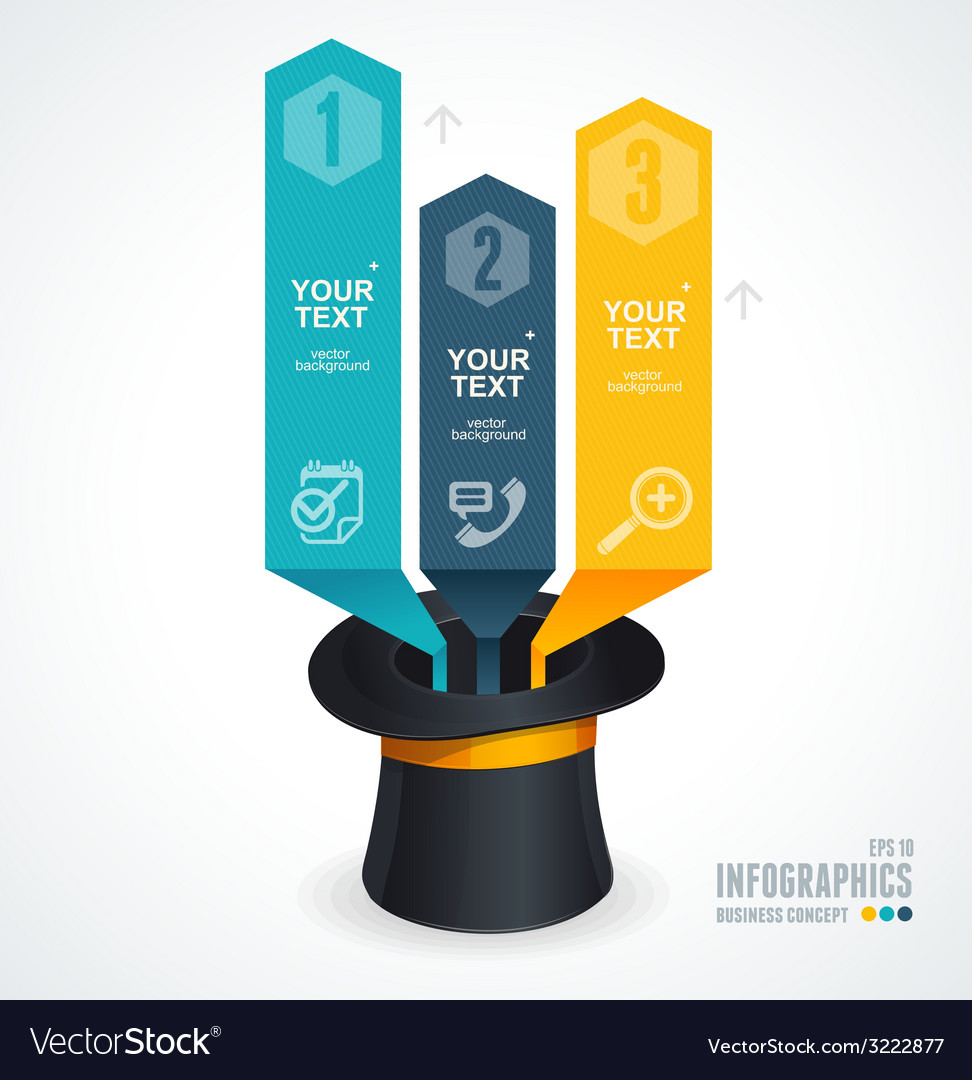 Modern infographics options banner 1 2 3 vector | Price: 1 Credit (USD $1)