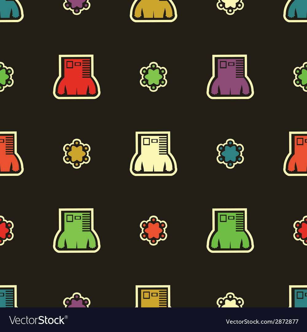 Monsters - seamless pattern vector   Price: 1 Credit (USD $1)