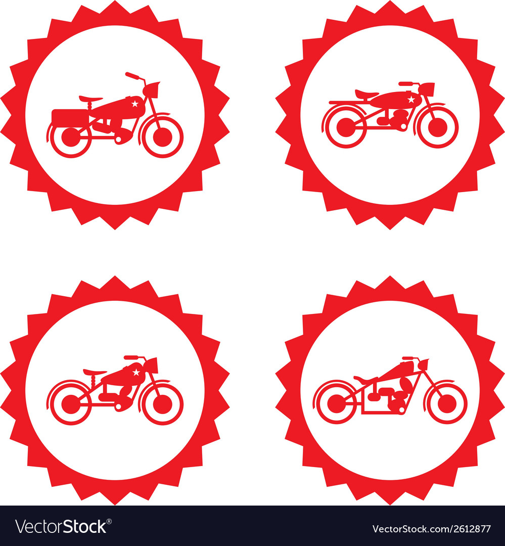 Motorbike design elements vector | Price: 1 Credit (USD $1)