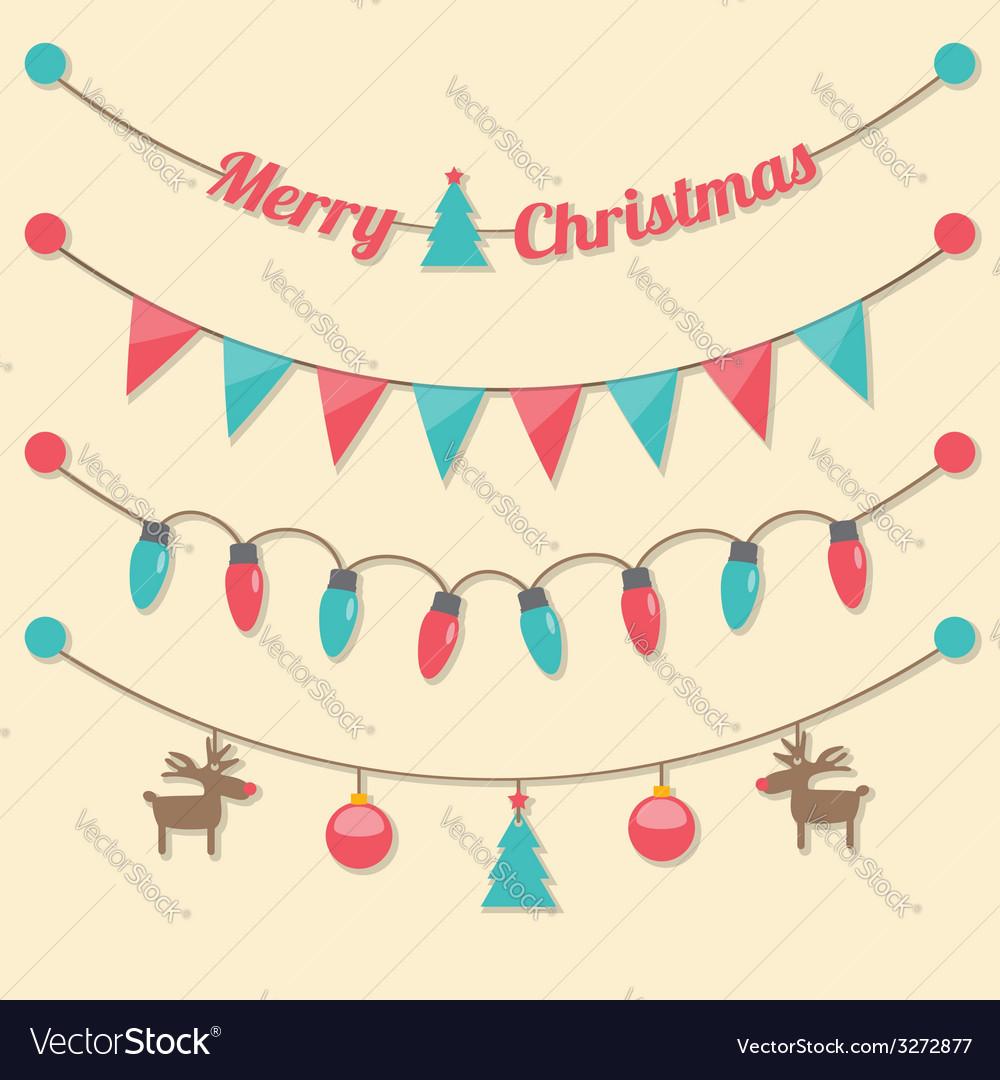 Party christmas light bulbs vector | Price: 1 Credit (USD $1)