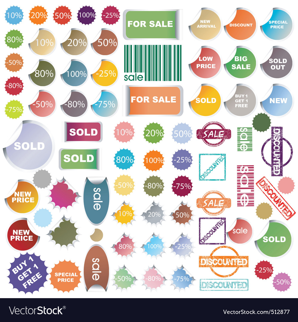 Promotional stickers vector | Price: 1 Credit (USD $1)