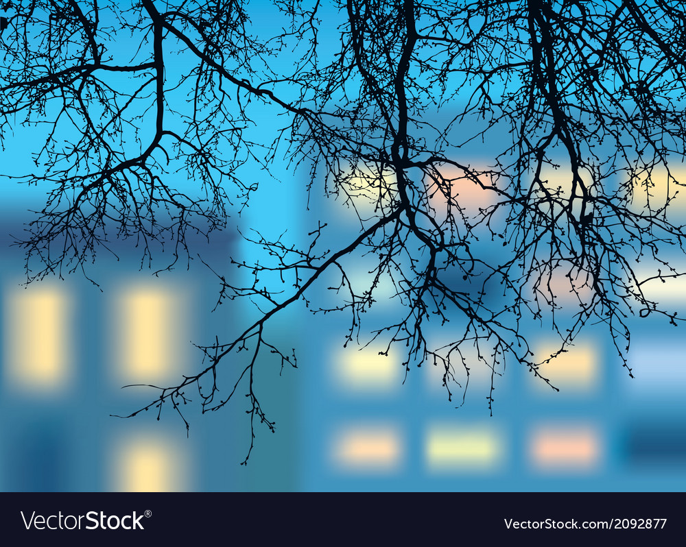 Silhouette of the descending branches vector | Price: 1 Credit (USD $1)