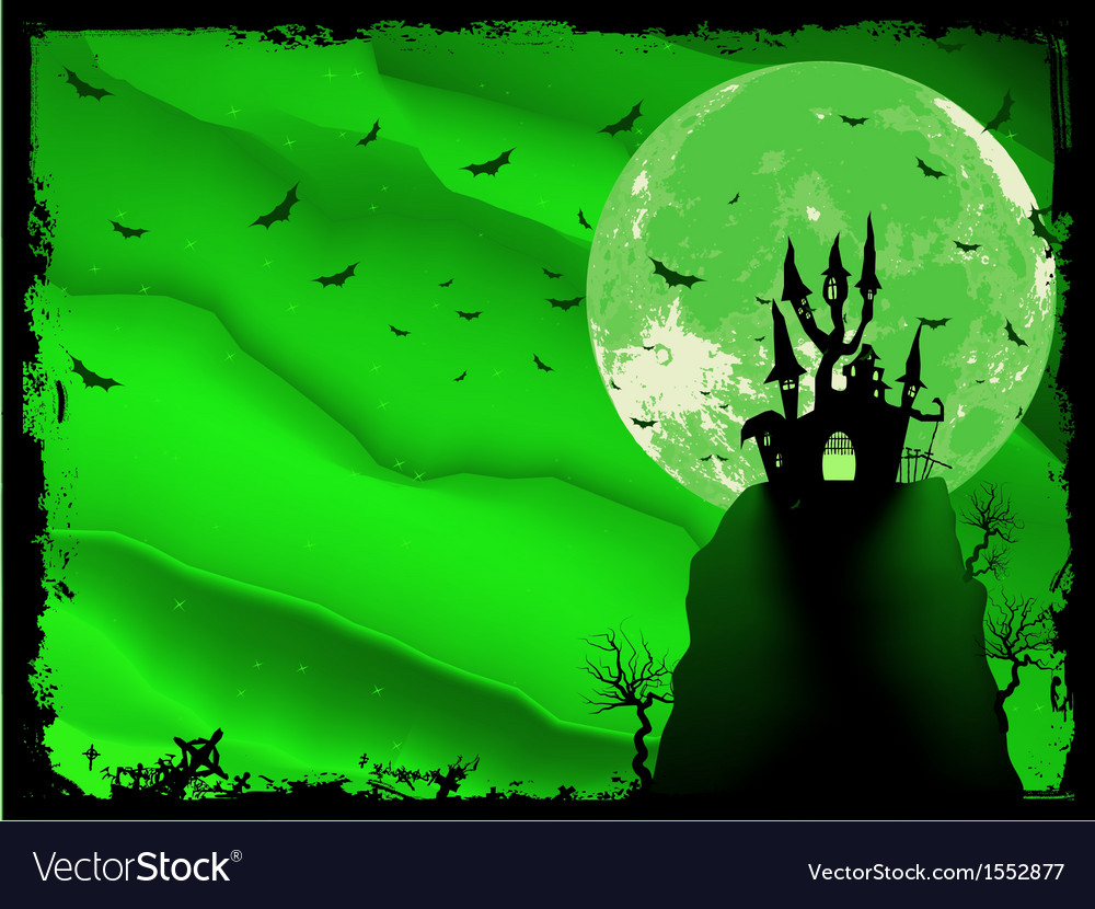 Spooky halloween composition vector | Price: 1 Credit (USD $1)