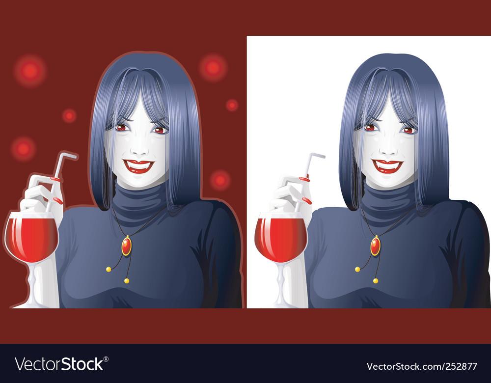 Vampire girl vector | Price: 3 Credit (USD $3)