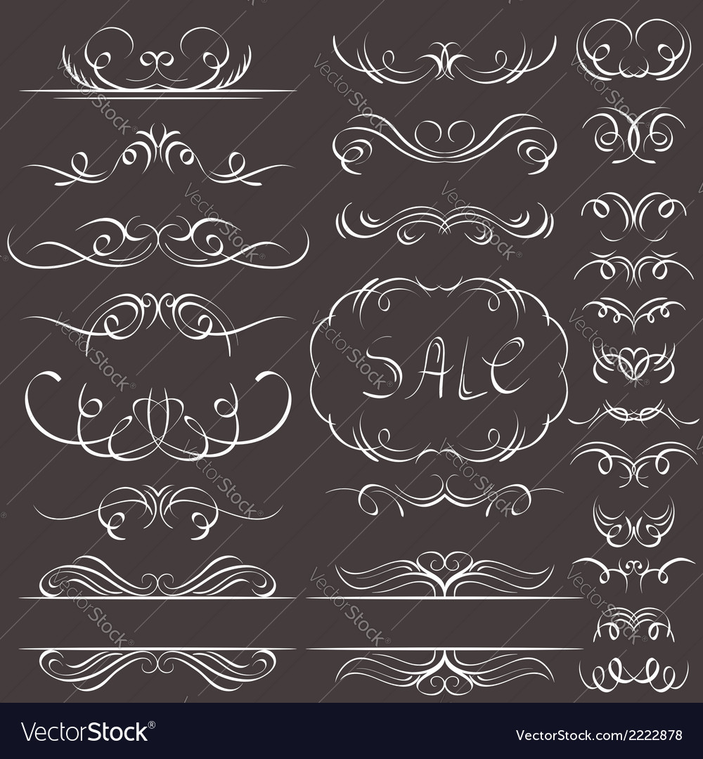 Calligraphy decorative borders ornamental rules di vector | Price: 1 Credit (USD $1)