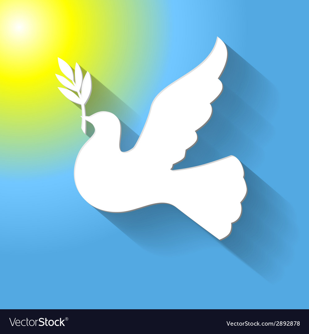 Flat dove sun vector | Price: 1 Credit (USD $1)