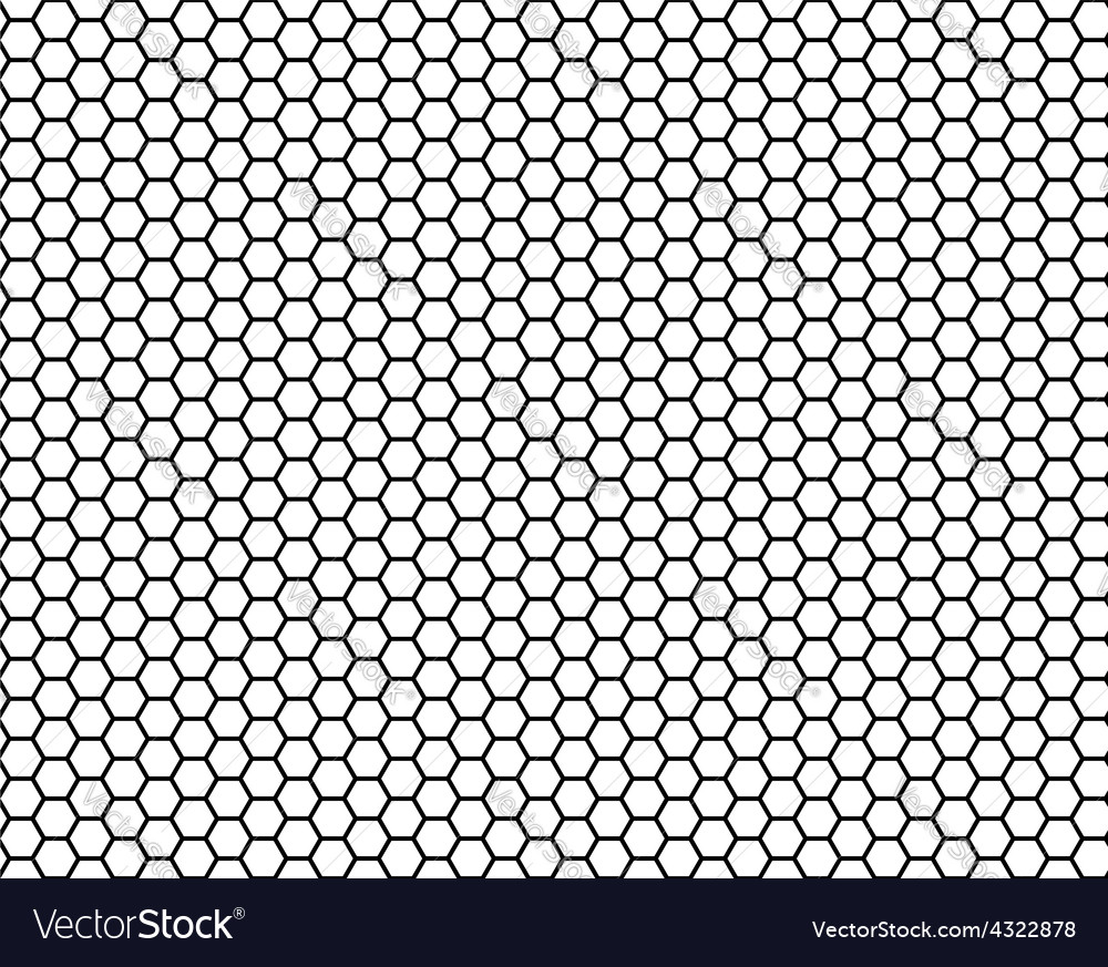 Honeycomb seamless pattern vector | Price: 1 Credit (USD $1)