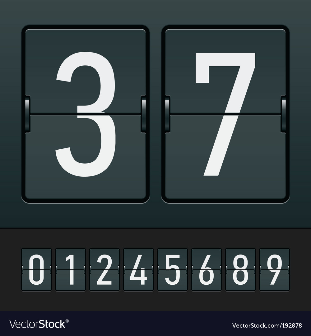 Mechanical scoreboard vector | Price: 3 Credit (USD $3)