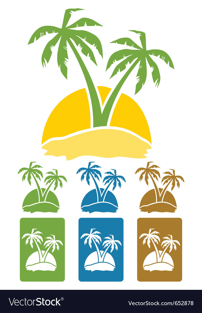 Palm tree logo vector | Price: 1 Credit (USD $1)