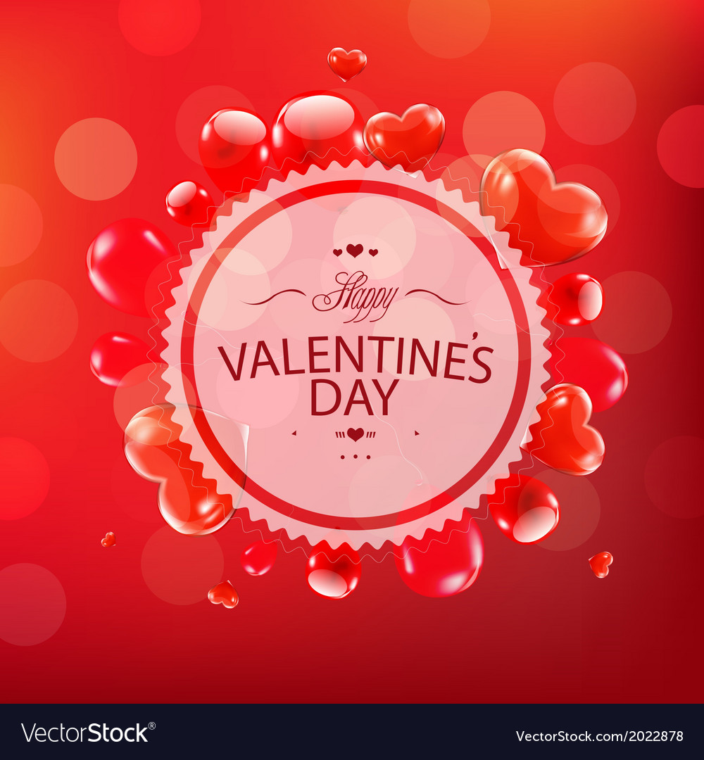 Red happy valentines day card vector | Price: 1 Credit (USD $1)