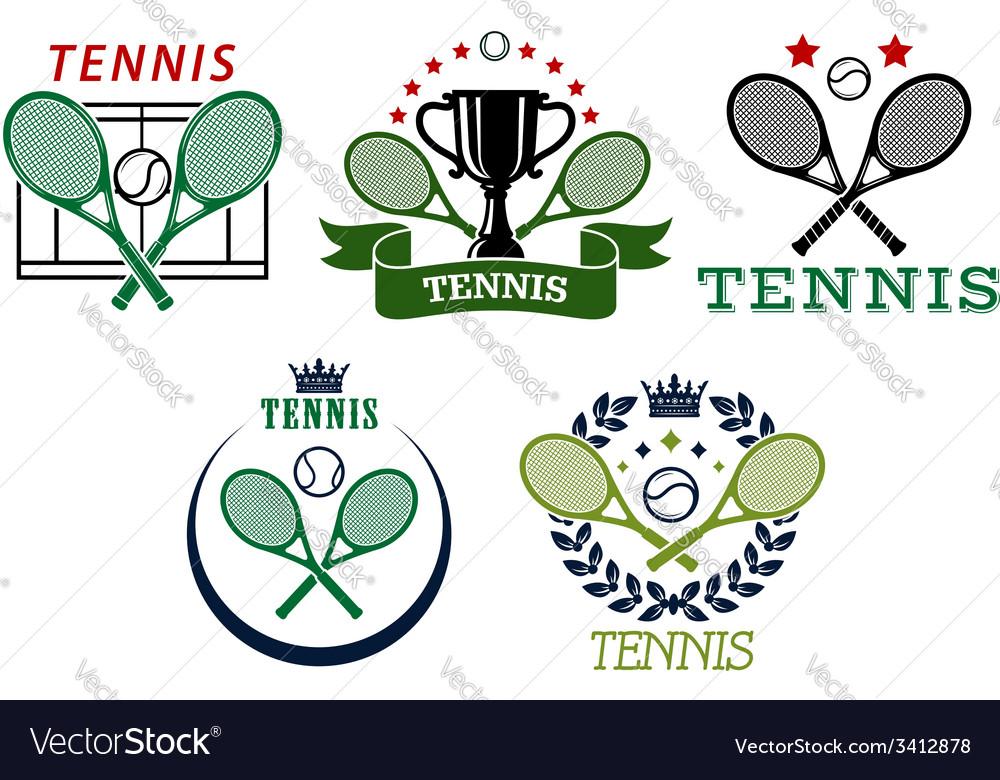 Tennis sport symbols and emblems vector | Price: 1 Credit (USD $1)