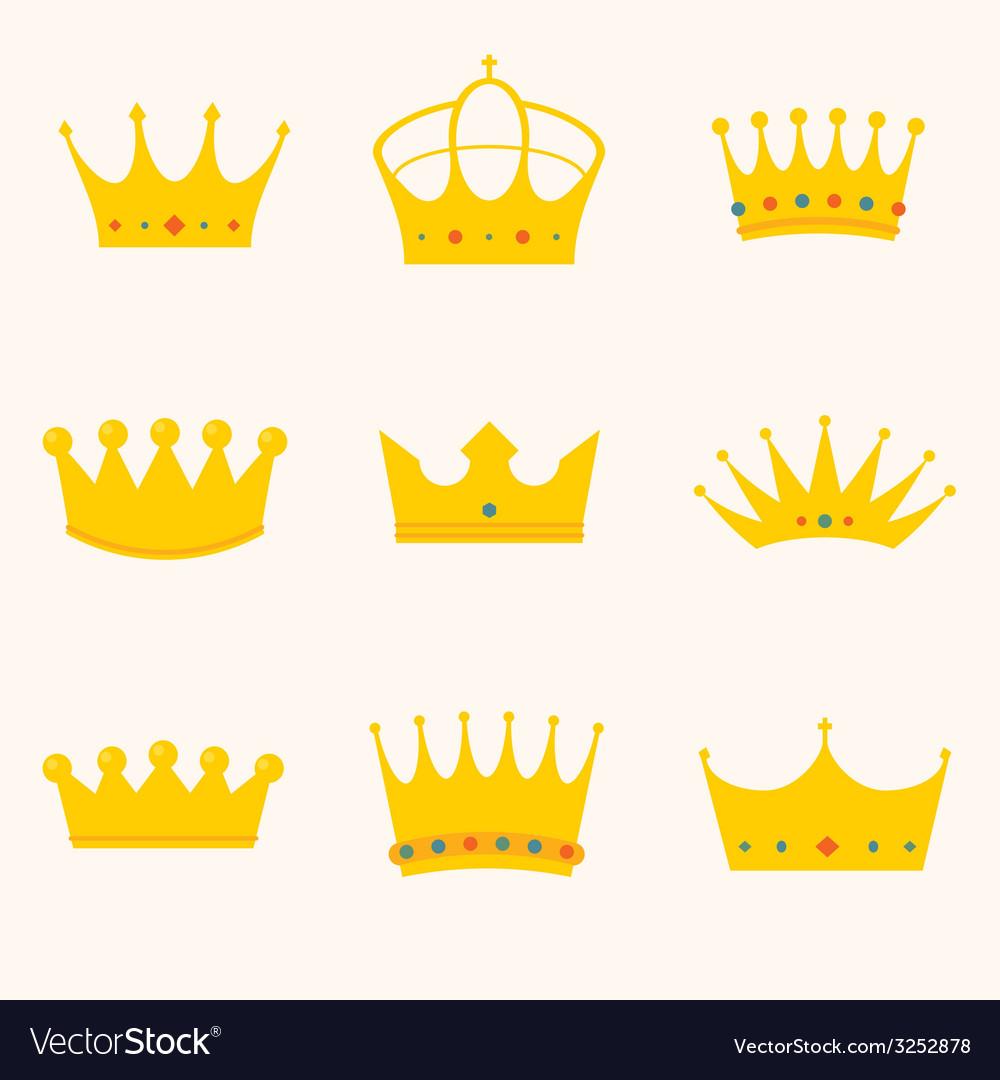 Vintage antique crowns vector | Price: 1 Credit (USD $1)