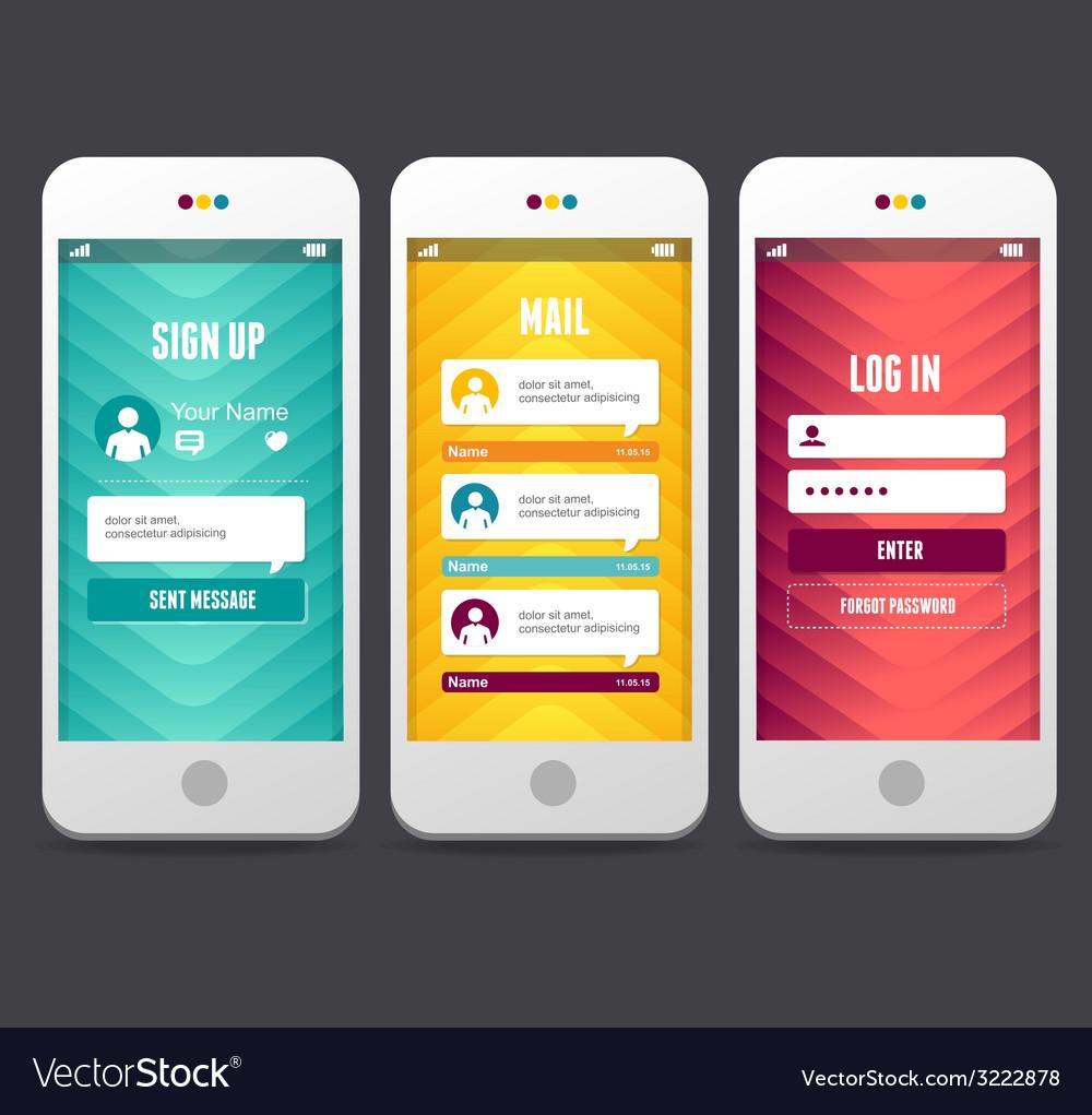 Web design elements applications templates vector | Price: 1 Credit (USD $1)