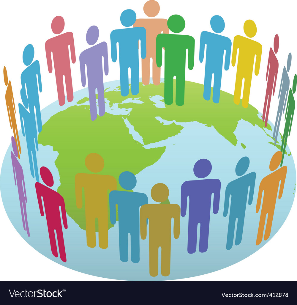World people vector | Price: 1 Credit (USD $1)