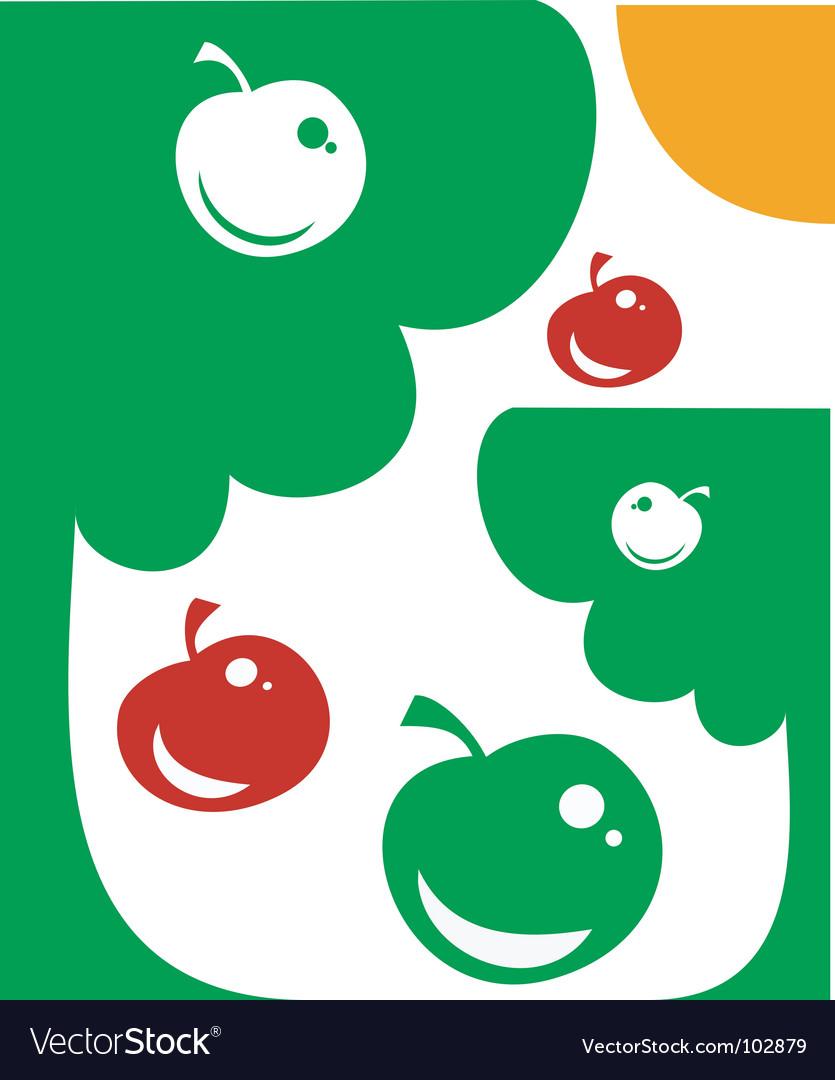 Apple garden vector   Price: 1 Credit (USD $1)