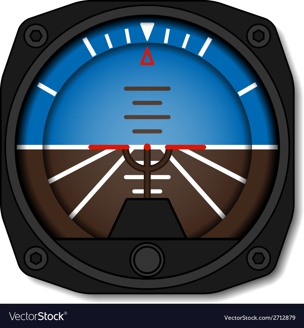 Aviation airplane attitude indicator - artificial vector | Price: 1 Credit (USD $1)