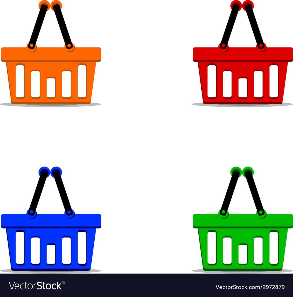 Basket set vector | Price: 1 Credit (USD $1)