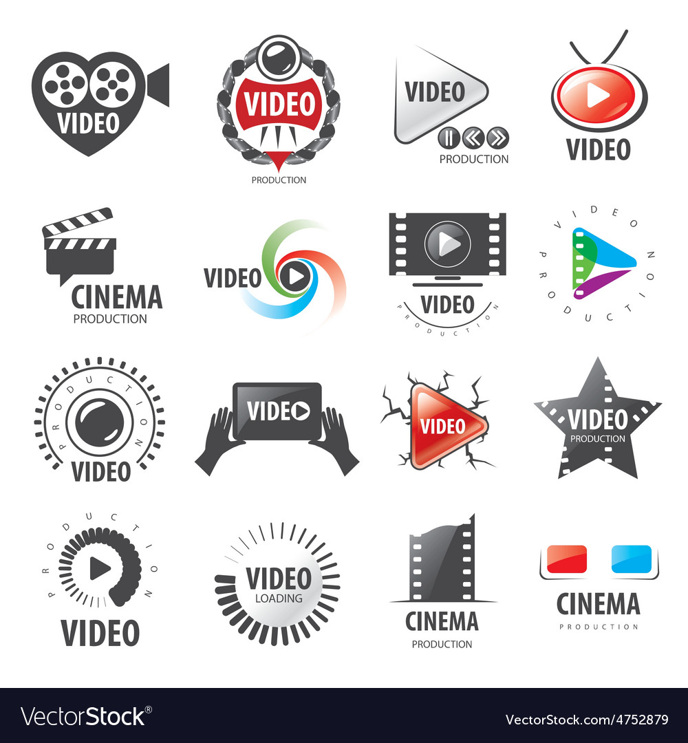 Biggest collection of logos for video production vector | Price: 1 Credit (USD $1)