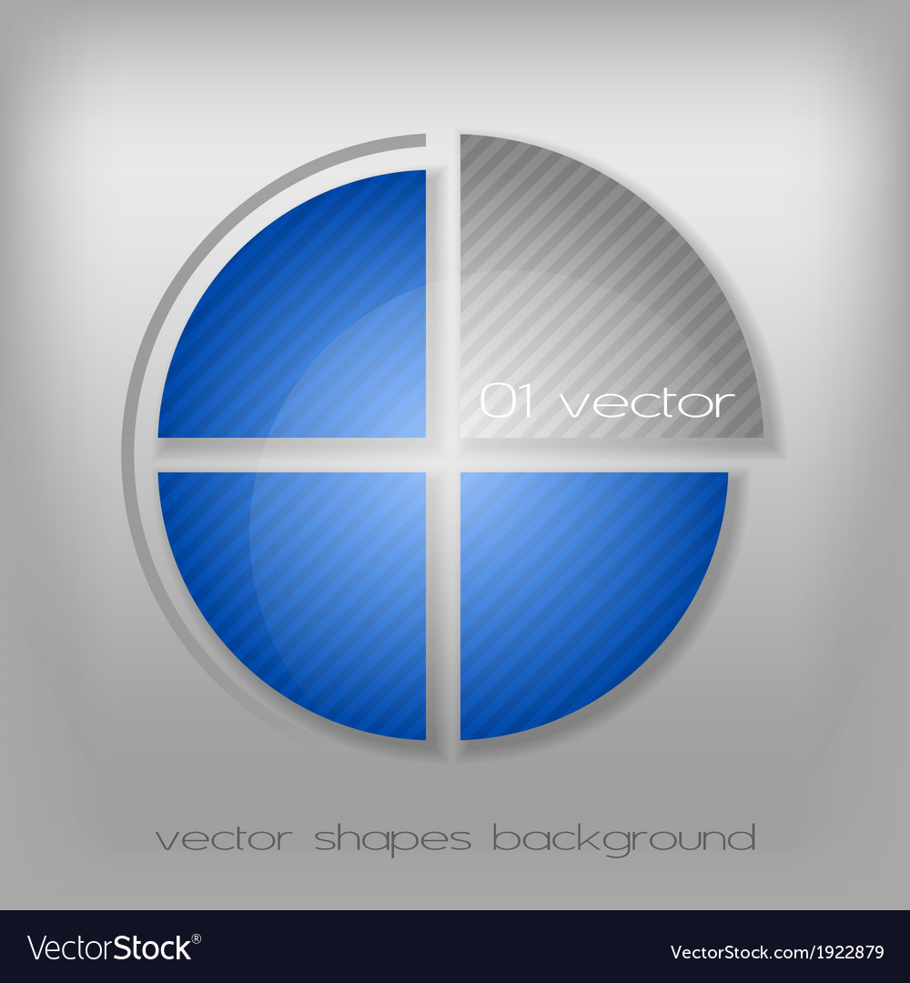Business circle gray blue vector | Price: 1 Credit (USD $1)
