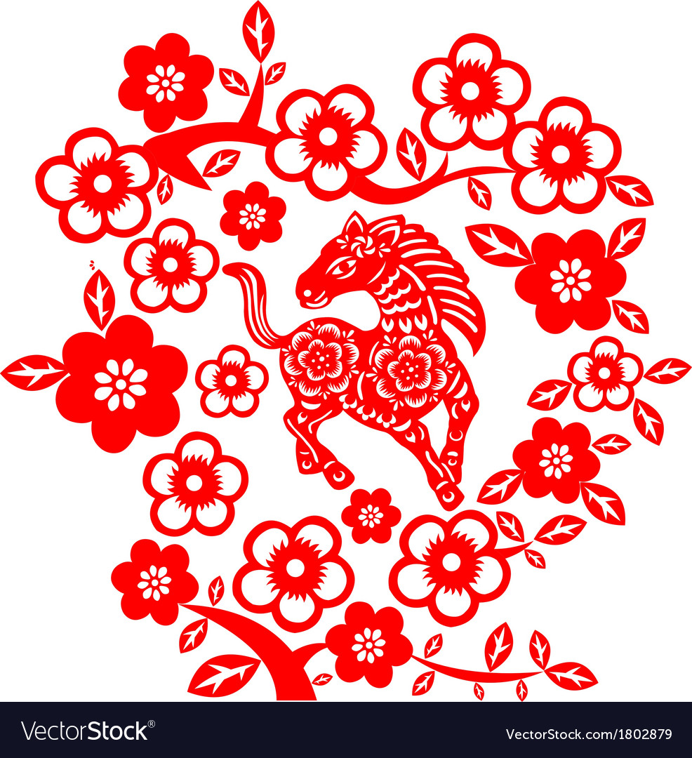 Chinese new year horse vector