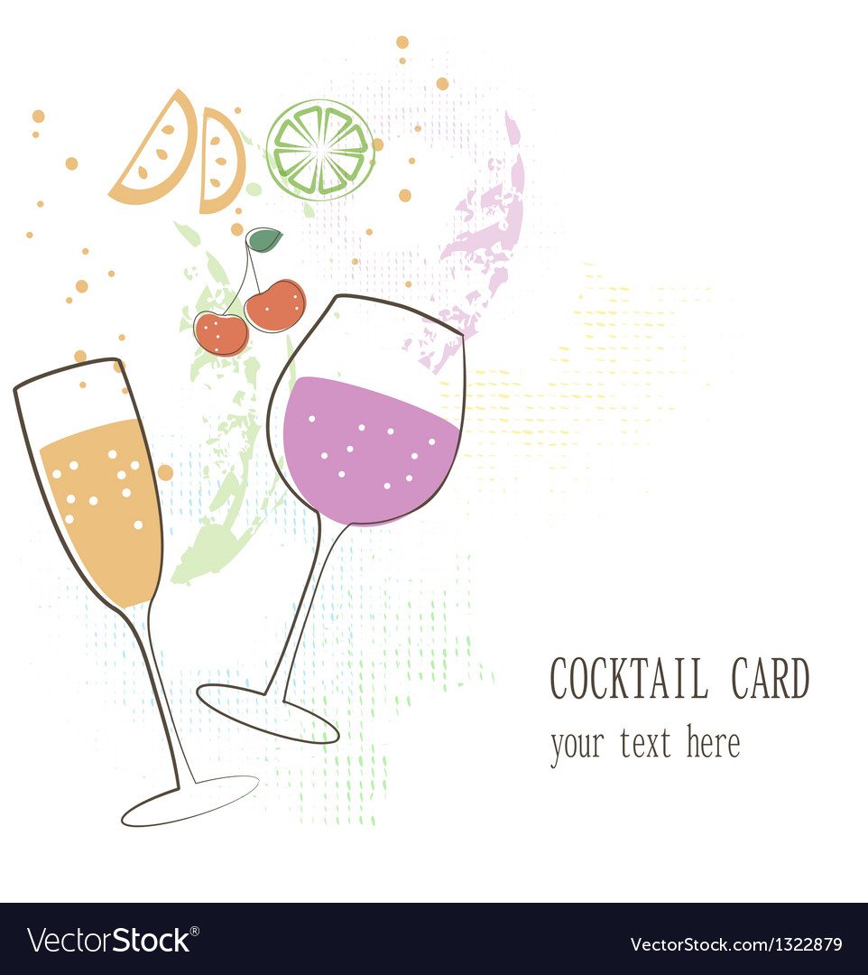 Cocktail card vector | Price: 1 Credit (USD $1)