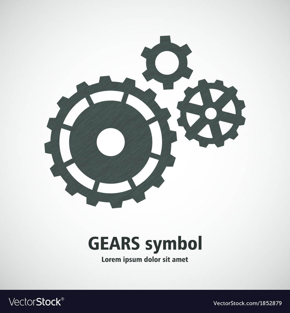Gears symbol icon vector | Price: 1 Credit (USD $1)