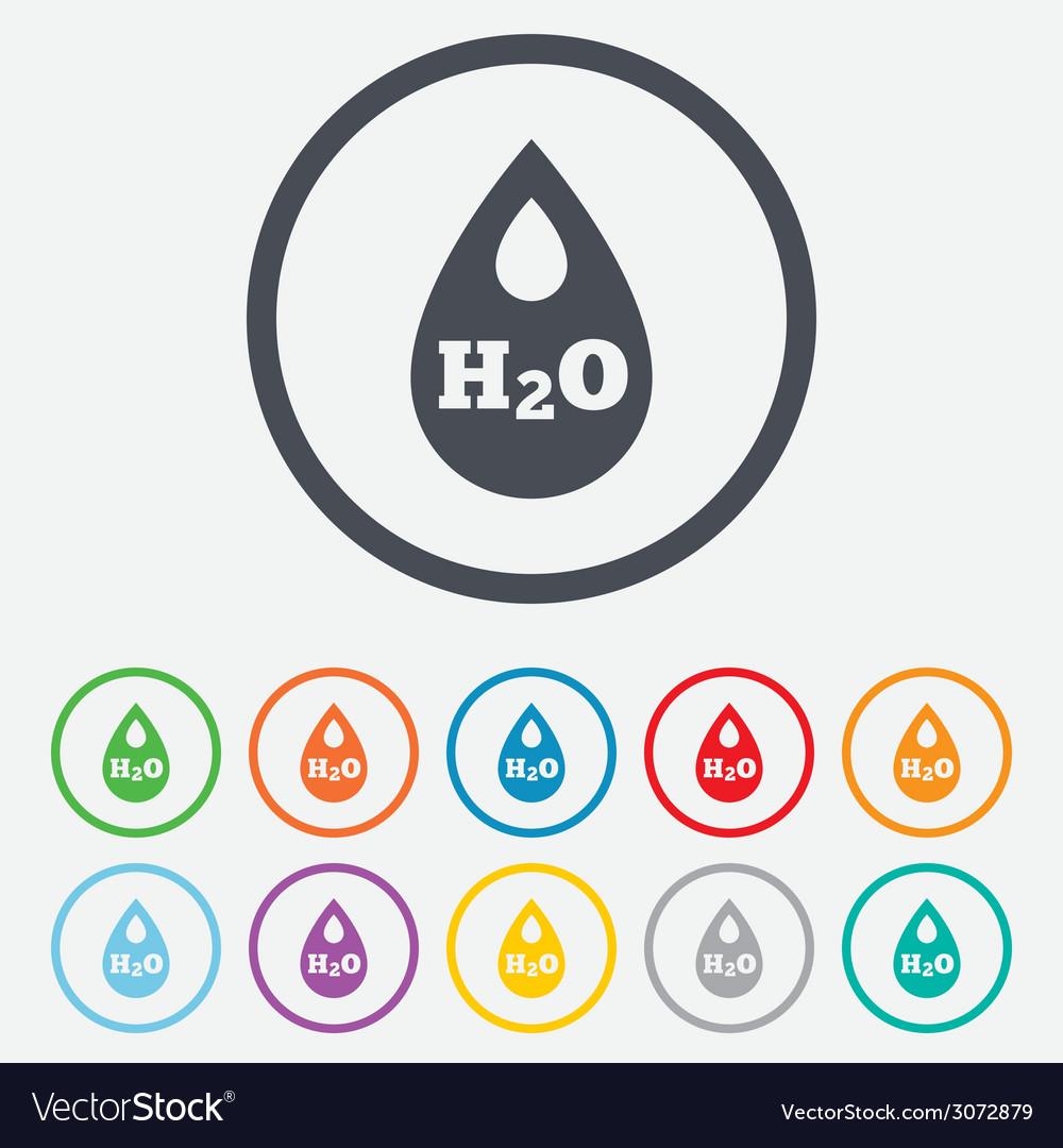 H2o water drop sign icon tear symbol vector | Price: 1 Credit (USD $1)