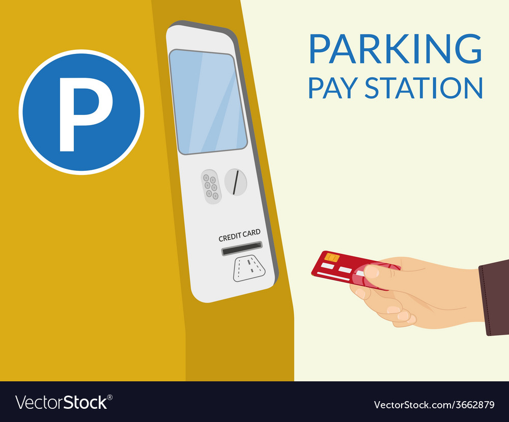 Parking pay station vector
