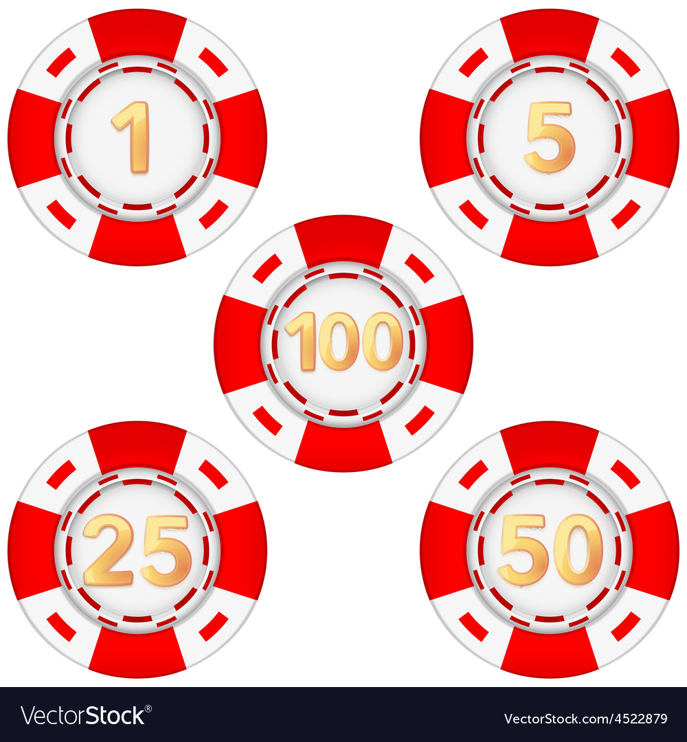 Set of gambling chips rated vector | Price: 1 Credit (USD $1)
