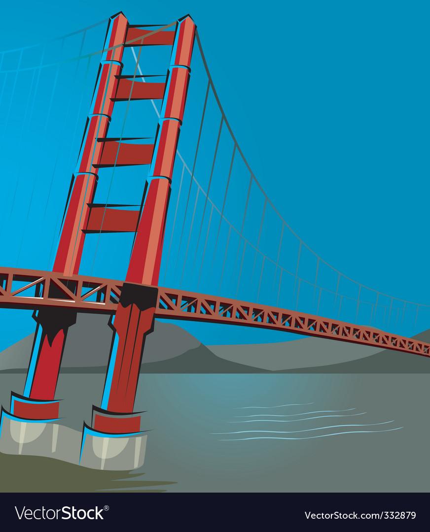 St francisco bridge vector | Price: 1 Credit (USD $1)