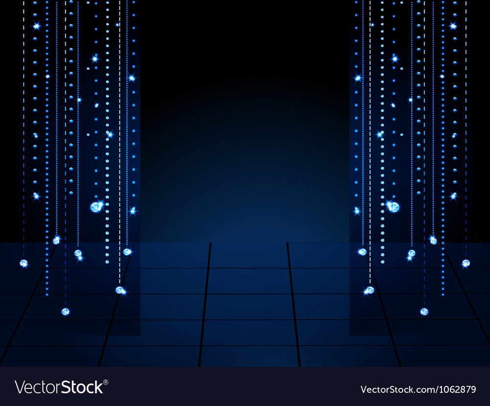 Stage background with glowing diamond drapes vector | Price: 1 Credit (USD $1)
