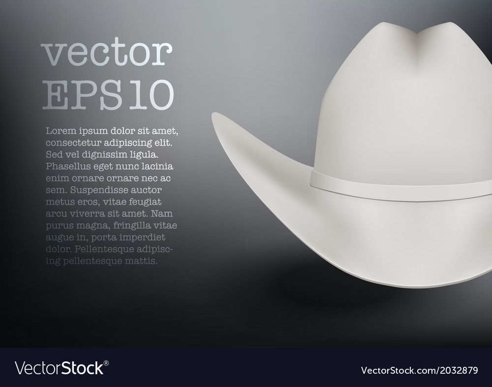 White cowboy hat background vector | Price: 1 Credit (USD $1)
