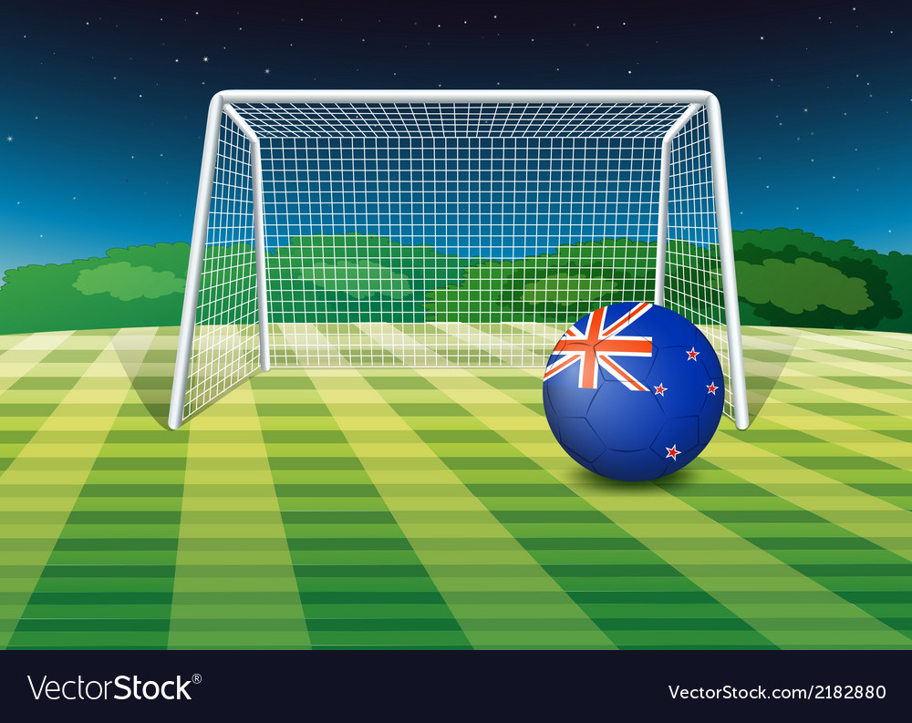 A soccer ball at the field with the new zealand vector | Price: 1 Credit (USD $1)