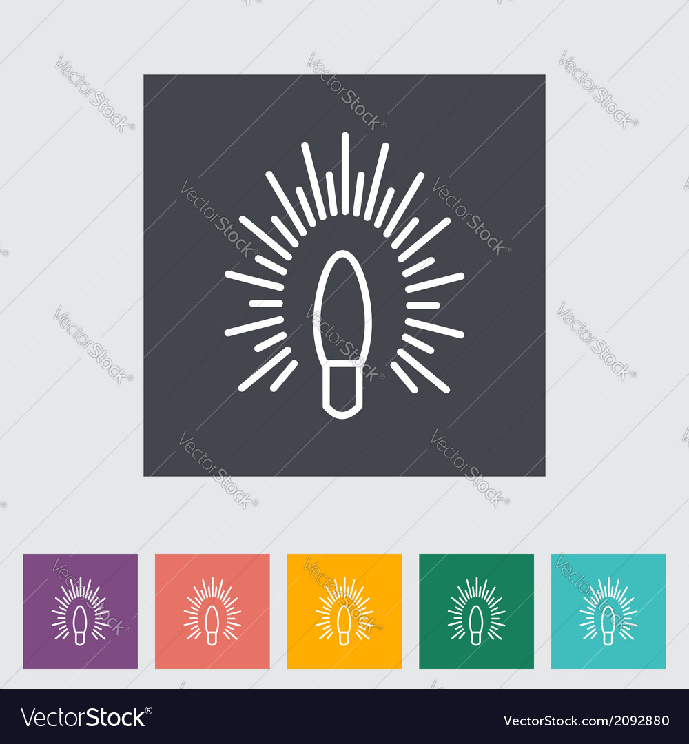 Bulb flat icon vector | Price: 1 Credit (USD $1)