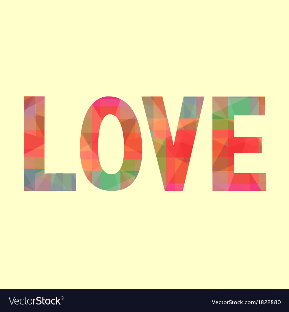 Colorful love letter card1 vector