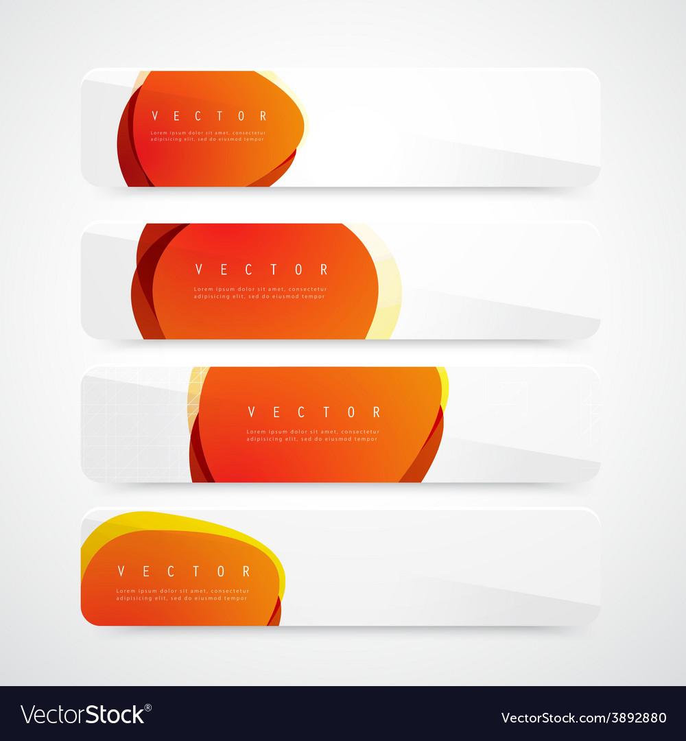 Flyer template header design circles vector | Price: 1 Credit (USD $1)
