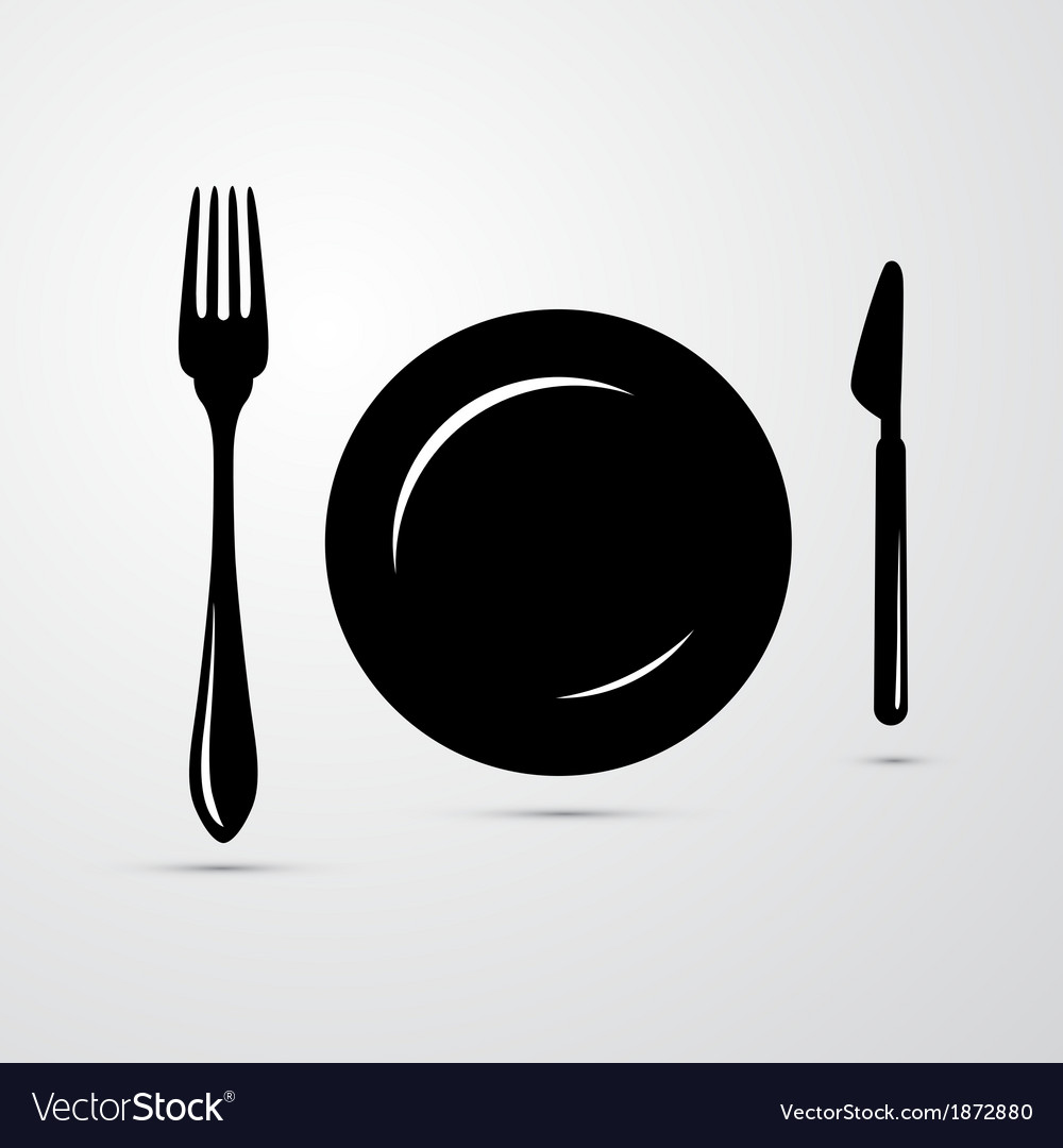 Fork plate and knife vector | Price: 1 Credit (USD $1)