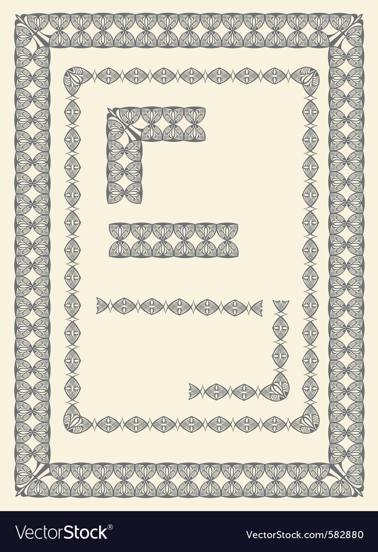 Frame and border elements vector | Price: 1 Credit (USD $1)