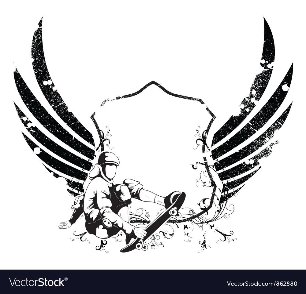 Grunge urban emblem vector | Price: 1 Credit (USD $1)