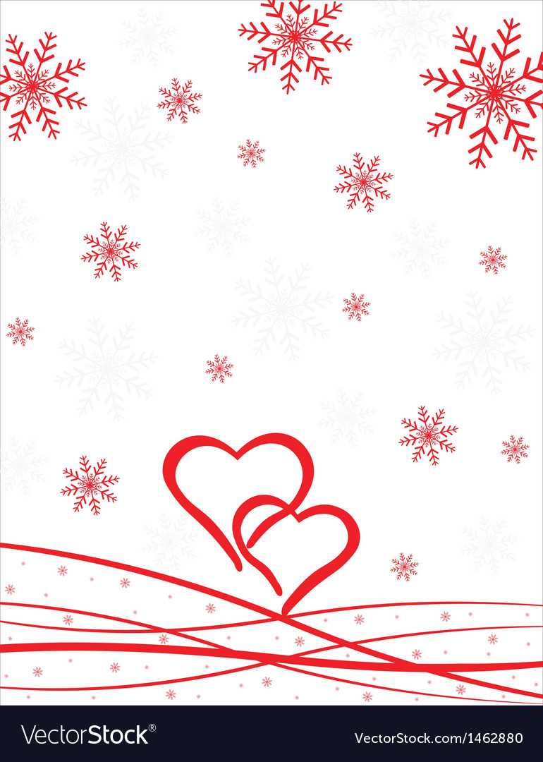 Hearts pattern with snowflakes vector | Price: 1 Credit (USD $1)