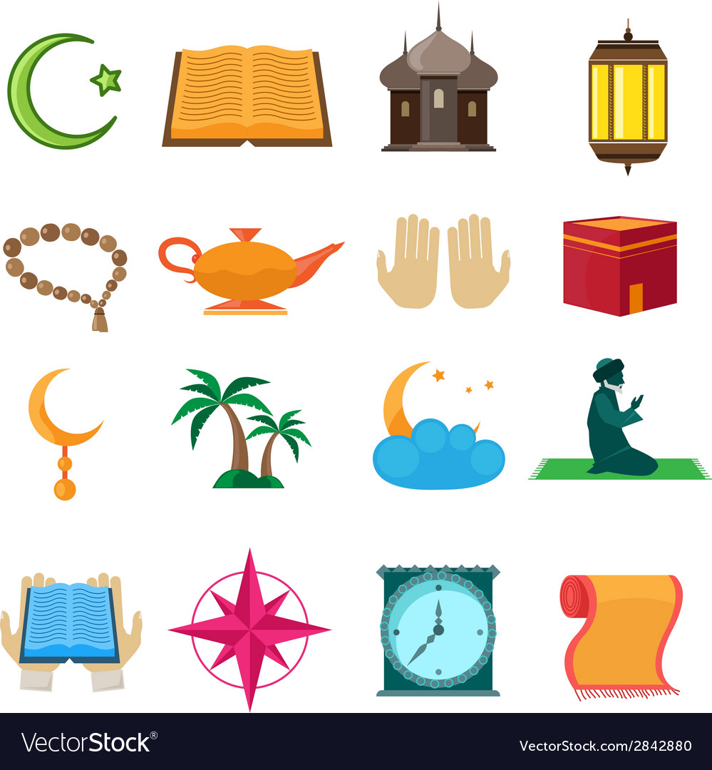 Islam icons set vector | Price: 1 Credit (USD $1)