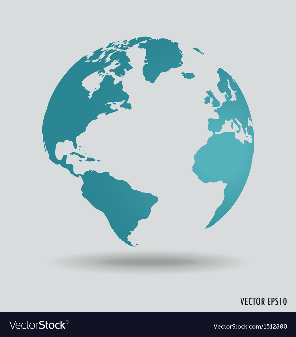 Modern world globe vector | Price: 1 Credit (USD $1)