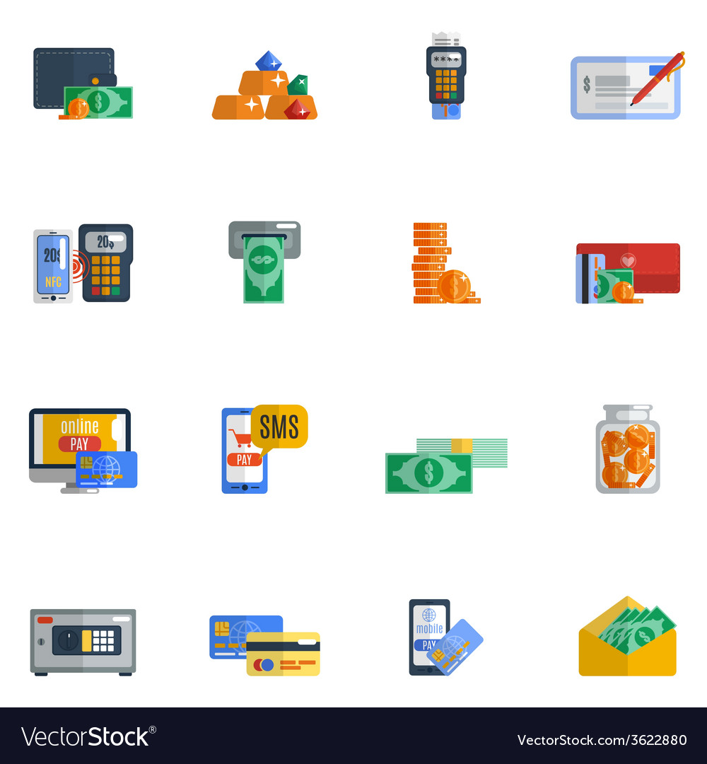 Payment icon flat vector | Price: 1 Credit (USD $1)