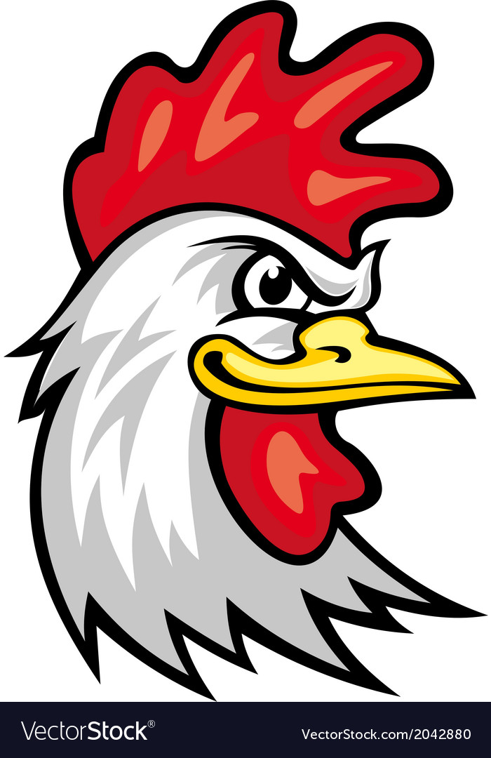 Rooster mascot vector | Price: 1 Credit (USD $1)