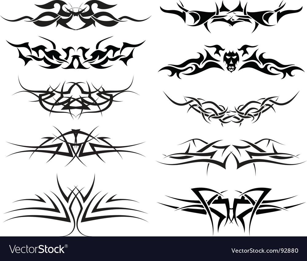 Tattoos set vector | Price: 1 Credit (USD $1)