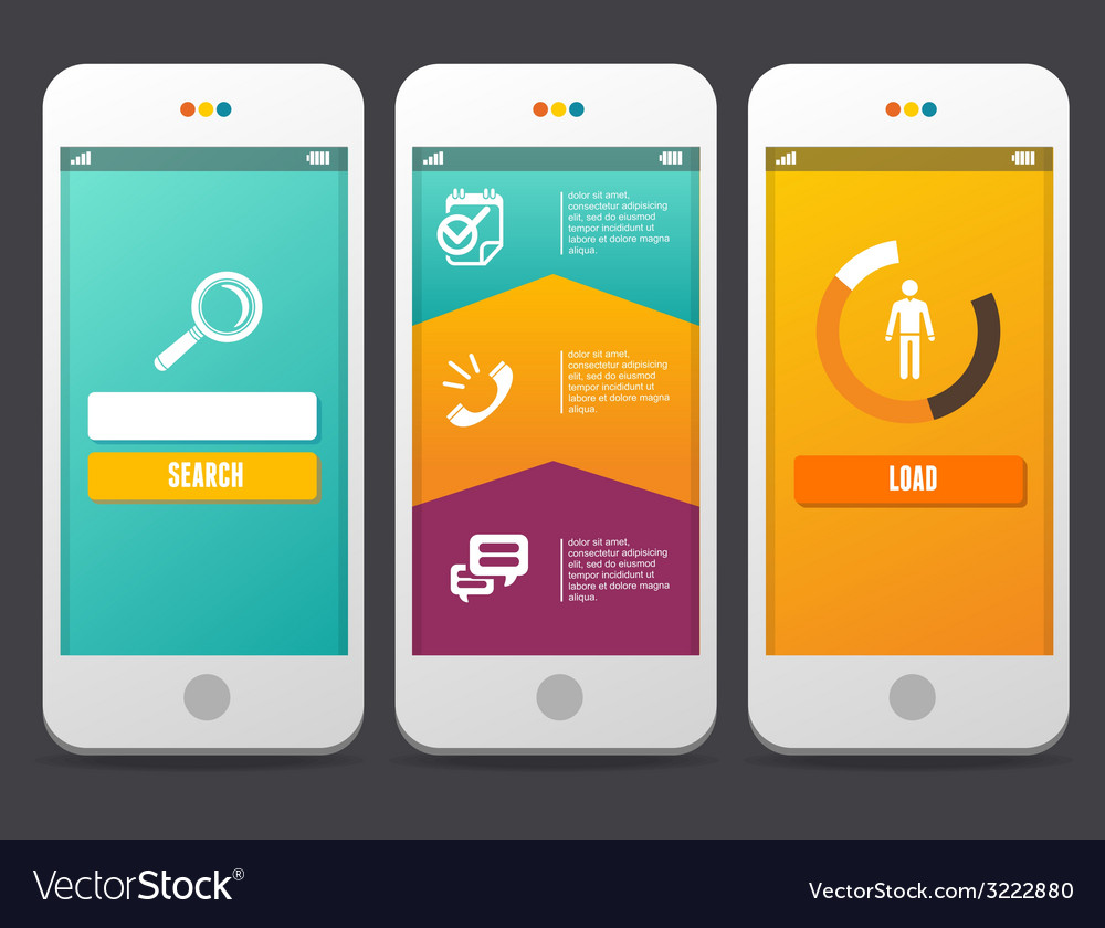 Web design elements applications templates vector | Price: 1 Credit (USD $1)
