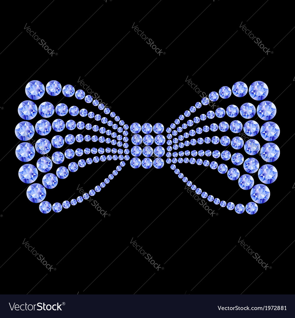 Blue gemstone bow composition vector   Price: 1 Credit (USD $1)