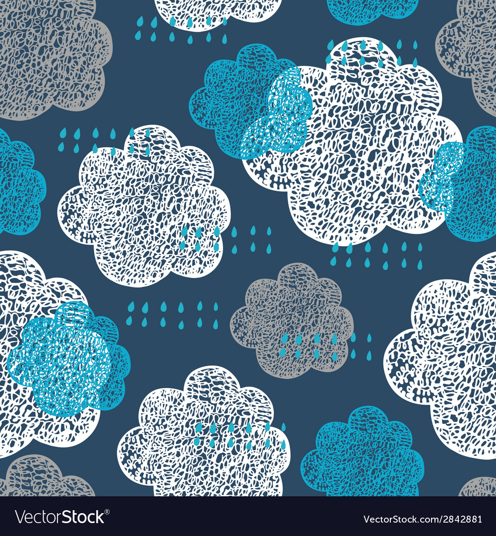 Cloud pattern vector | Price: 1 Credit (USD $1)
