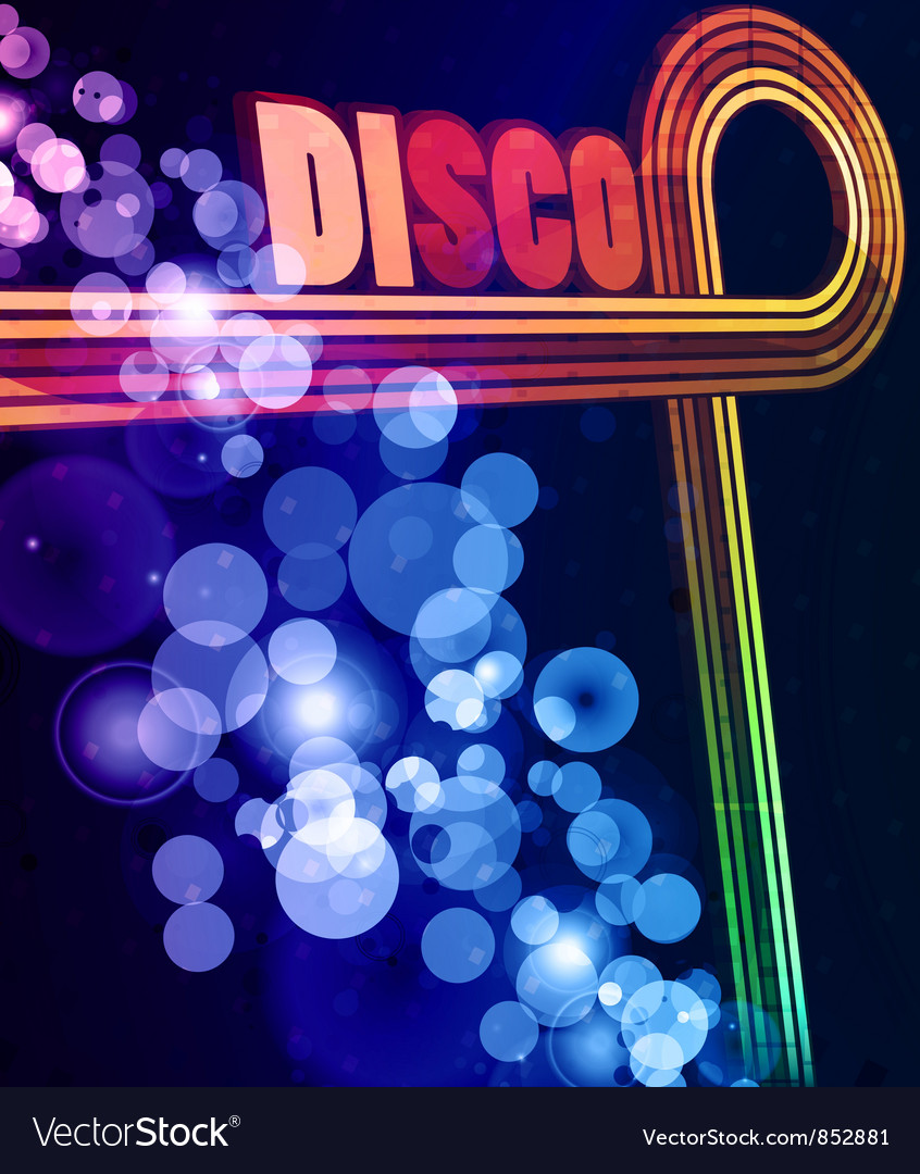 Colorful disco background vector | Price: 1 Credit (USD $1)